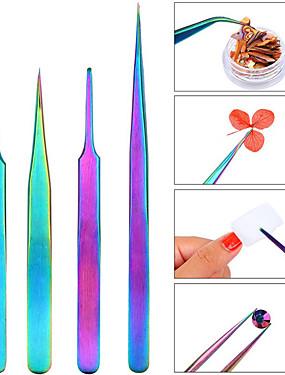 voordelige Ander Gereedschap-1pc Roestvast staal Voor Multi Function / Beste kwaliteit Nagel kunst Manicure pedicure Kleurrijk Dagelijks