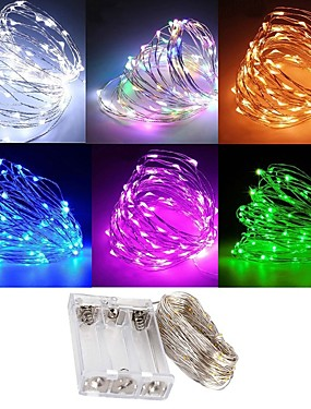 billige More-zdm vanntett 3m 30 led 3aa batteri fe streng lys firefly lys christmas dekor jul lys flere farger