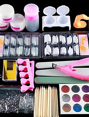billige Neglesett-1set Glimmer Nail Art Tool Nail Art Kit Til Fingernegl Tånegl Multifunksjonell Neglekunst Manikyr pedikyr Chic & Moderne / trendy / Fransk Tips Guide
