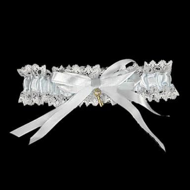 Dantelalar Saten Klasik Düğün tokmak  -  Fiyonk Kurdele Bağcık Jartiyerler
