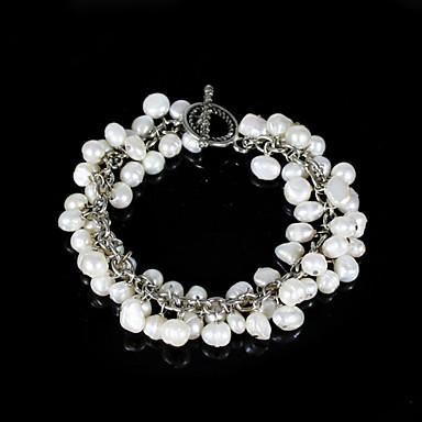 dames chics bracelet de perles en alliage d'argent