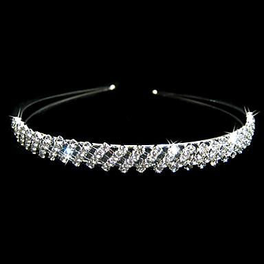 smukke klare krystaller bryllup brude Tiara / medaljon