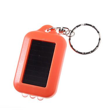 energía solar llevó la luz blanca y UV de 3 LED llavero linterna (naranja)
