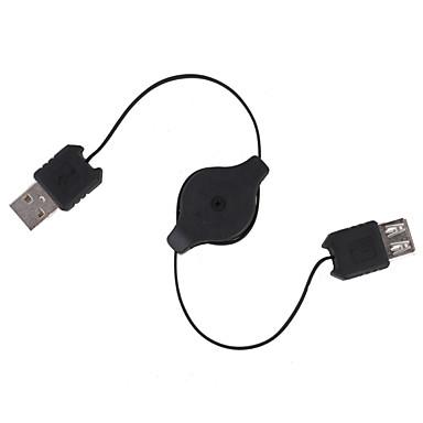 Geri çekilebilir USB uzatma kablosu (70cm-uzunluk)