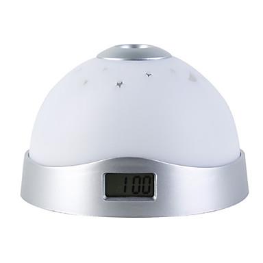 Raak de sensor kleurrijk licht digitale klok de tijd projector (wit, 3 AAA)