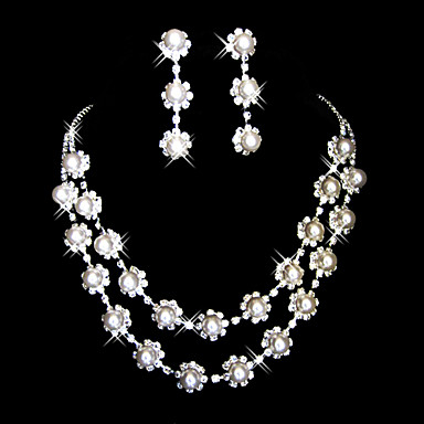 High Quality Czech Rhinestones With Alloy Plated Wedding Bridal Necklace And Earrings Jewelry Set