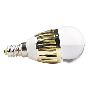 E14 3W Blue Light LED Ball Bulb (110-240V)