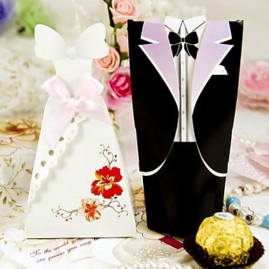 Kreativ Materiale Gave Til Gæster Holder med Mønster Andre Bryllupstilbehør