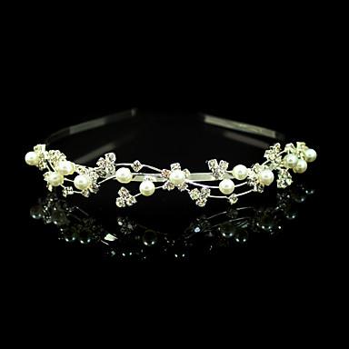 Kristal İmitasyon İnci Kumaş alaşım - Tiaras Headbands 1 Düğün Özel Anlar Parti / Gece Başlık