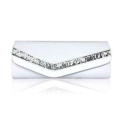 Women Satin Event/Party Evening Bag White / Pink / Purple / Blue / Gold / Red / Black