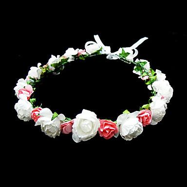 Κρύσταλλο / Ύφασμα / Χαρτί Τιάρες / Λουλούδια με 1 Γάμου / Ειδική Περίσταση / Πάρτι / Βράδυ Headpiece