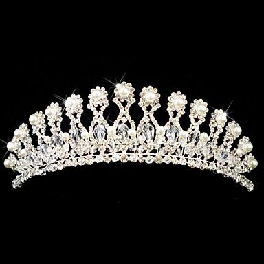 liga lindo com austria rhinestones / pérola de imitação de noiva tiara