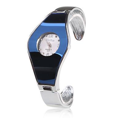 pentru Doamne Ceas La Modă Ceas de Mână Ceas Brățară Quartz Bandă Brățară rigidă Argint Albastru