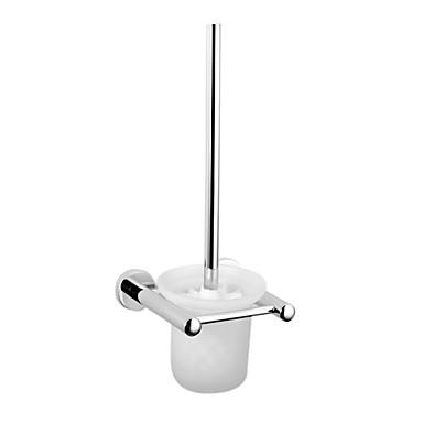 Modern Design Toilet Brush Holder With Wall Mount Shelf