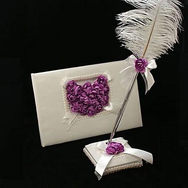 Knjiga gostiju / Set olovaka Saten Vrt TemaWithPerje / petal