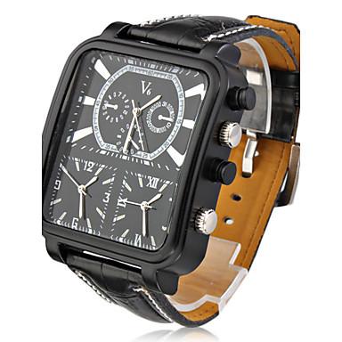V6 Bărbați Ceas de Mână Ceas Militar  Quartz Quartz Japonez Zone Triple De Timp PU Bandă Charm Negru