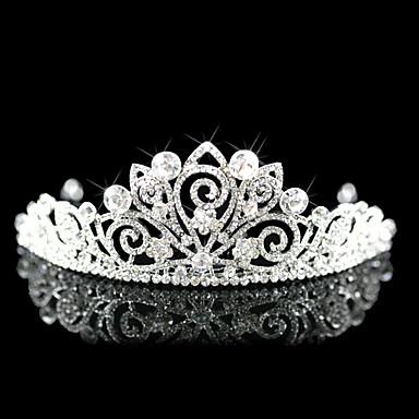 vackert legering med cubic zirconia bröllop brud tiara
