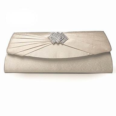 sacs à main en soie avec des parties de cristal / strass / griffes plusieurs couleurs disponibles