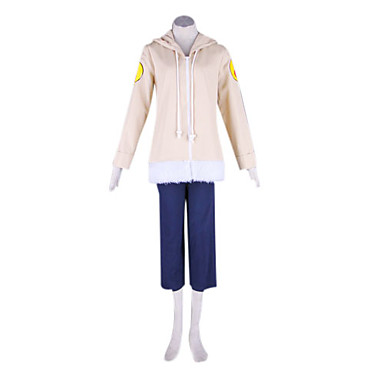 Inspired by Naruto Hinata Hyuga Anime Cosplay Costumes Cosplay Suits Patchwork Long Sleeves Coat Pants For Men's Women's