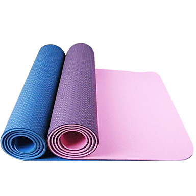 eco-friendly TPE extra silné extra dlouhé jóga pilates mat (6mm)