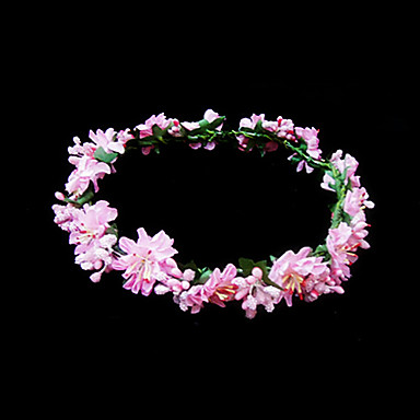 Cristal Tecido Papel Tiaras Flores 1 Casamento Ocasião Especial Festa / Noite Capacete