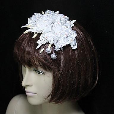 mooie kant / veren / acryl bruids bloem / hoofddeksel