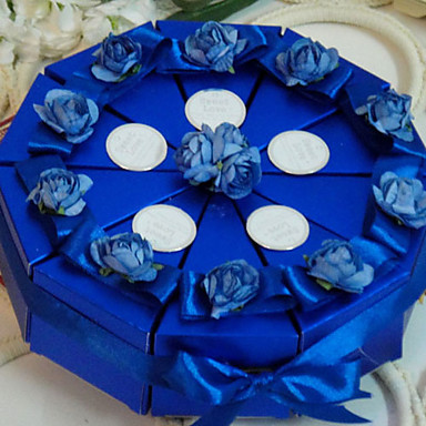Κυκλικό / Τετράγωνο Χάρτινη Κάρτα Εύνοια Κάτοχος με Κορδέλες / Λουλούδι Κουτιά Μποπονιέρων