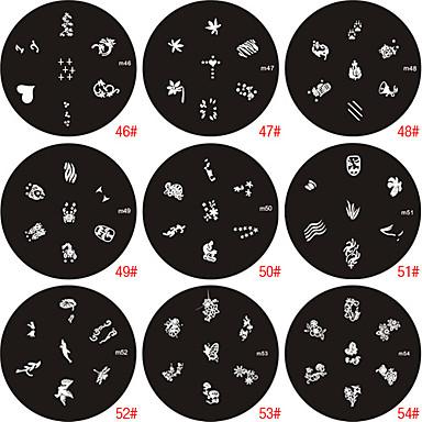 nail art stempel stempelen beeld sjabloon plaat M-serie
