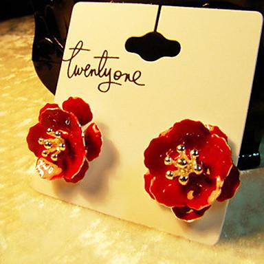 fiori rosso ciliegia orecchino