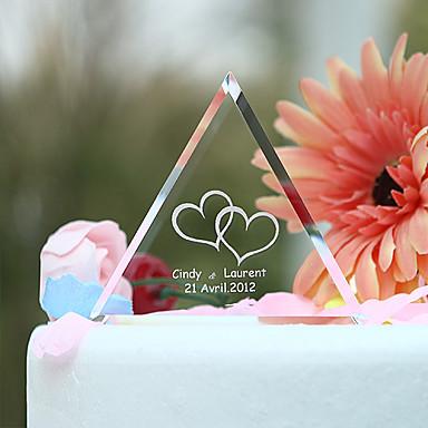 Vârfuri de Tort Temă Grădină Inimi Cuplu Clasic Cristal Nuntă Aniversare Cheful Burlacelor cu Cutie de Cadouri