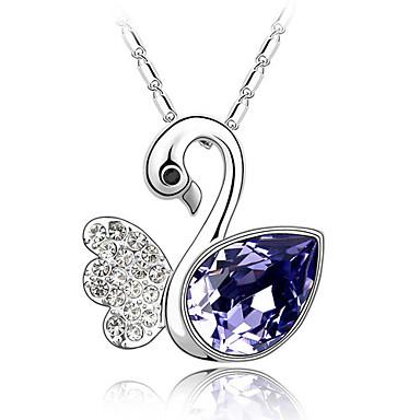 45-cm Fantasy Swan Lake Quality Crystal Necklace