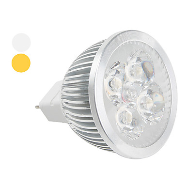 GU5.3 4 W 4 High Power LED 360 LM Warm White / Cool White MR16 Spot Lights DC 12 V