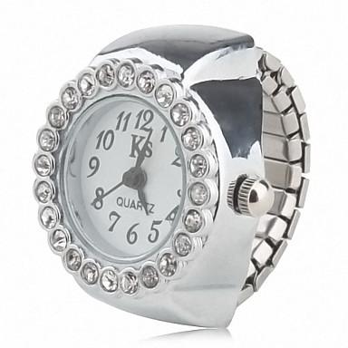 Γυναικεία κυρίες Ρολόι Δαχτυλίδι Ιαπωνικά Χαλαζίας Καθημερινό Ρολόι κράμα Μπάντα Αναλογικό Λάμψη Μοντέρνα Ασημί