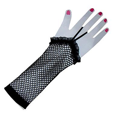 Naylon / Polyester Avuç Uzunluğu Eldiven Klasyczna / Parti / Gece Eldivenleri İle Tek Renk
