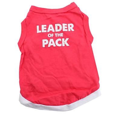 Hund T-shirt Hundetøj Hjerte Dyr Rød Bomuld Kostume For kæledyr