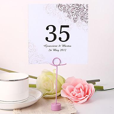 Çiçekli Malzeme İnci Kağıdı Kart Tutucuları Masa Numara Kartları Diğerleri Düğün Poli Çanta