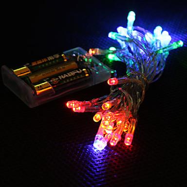3M Koristevalot 30 LEDit Dip Led Monivärinen Leikattava / Koristeltu / Ihana AA-paristot virittyvät 1kpl / IP44