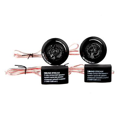 500w plastik araba stereo ses sistemi, siyah, çift, dc 12v için hoparlör tweeter'lar