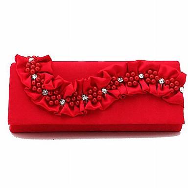 Gorgeous Silk Evening Handbags/Acrylic Jewels