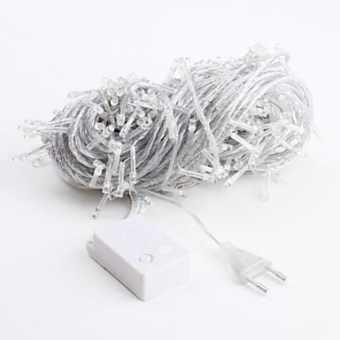 billige Utendørsbelysning-Lysslynger 300 LED Dip Led Hvit Fest / Dekorativ / Smuk 220-240 V 1set / IP44