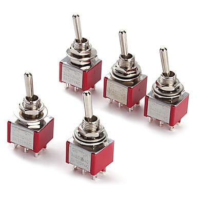 Elektronik için 6p geçiş anahtarı diy ac 250v 2a 120v 5a açık / kapalı / açık (5 adet paket)