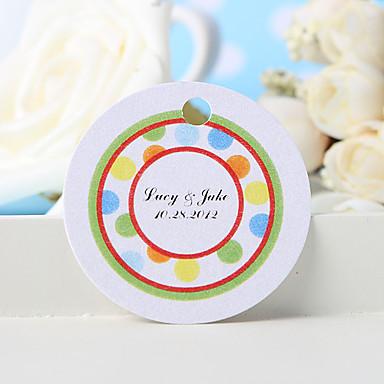 personalisierte Gunst-Tag - die farbigen Punkte (Set von 36) Hochzeitsbevorzugungen