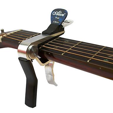 alice a007dsl-a1 avanceret akustisk guitar capo med picks clip