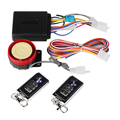 Professional 120-125dB Motorcycle Security Alarm with Remote Controller