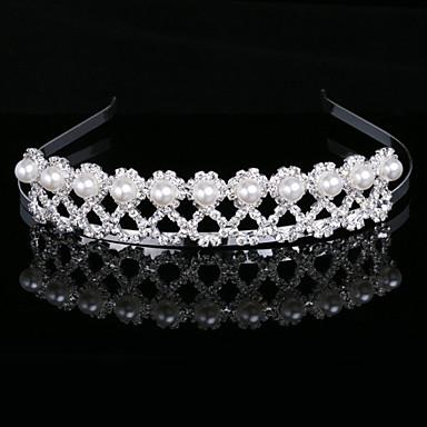 Gorgeous Imitation Pearls In Alloy Tiara