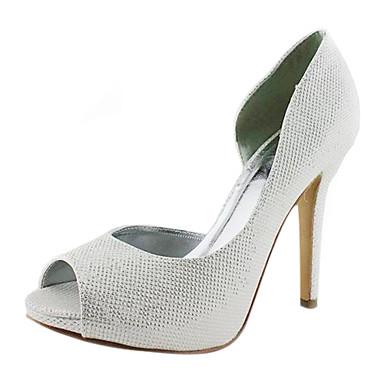 Leatherette Stiletto Heel Peep Toe / Pumps Wedding / Party Evening Shoes