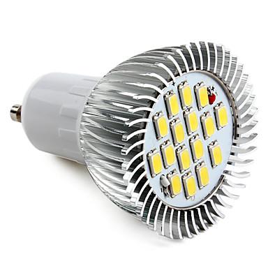 Ampoule LED Spot Blanc Naturel (220V) GU10 16x5630 SMD 8W 720LM 6000-6500K