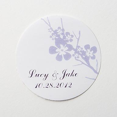 Düğün Davetiyeleri 36 - Diğerleri Zarf Sticker Davet Kartları Klasik Malzeme Çiçekli