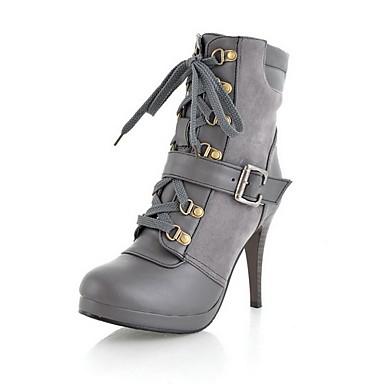 similicuir stiletto la cheville bottes talon fête / eveningshoes (plus de couleurs)