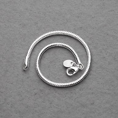 Gorgeous Silver Plated 3mm Snake Chain Unisex Bracelet